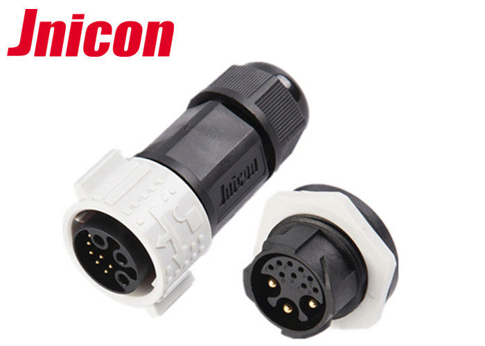 Jnicon 9 Pin Female Waterproof Data Connector , IP67 3 Pin Auto Waterproof Connectors