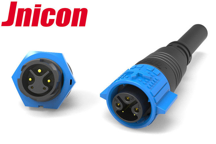 Dust Proof IP67 M19 Connector 3 Power 2 Signal Good Stretching Resistance